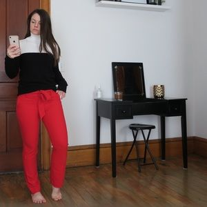 LOFT red pants with belt